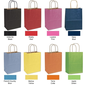 8x4x10 Natural tint shopping bag