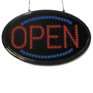 Oval Open/Closed Sign
