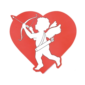 cupid cardboard insert hanging paper decorations