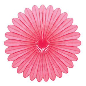 pink paper fan hanging paper decorations