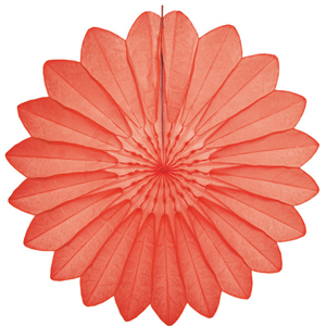 coral paper flower hanging paper decorations