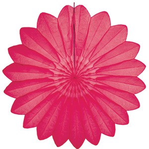 cerise paper flower hanging paper decorations