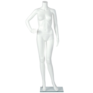 plastic female headless mannequin
