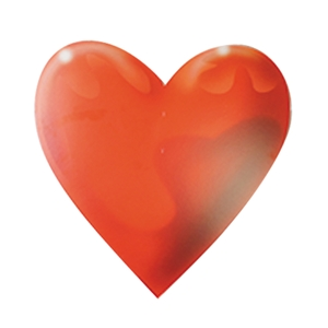 Solid Red Heart Heart Cardboard Insert Hanging Paper