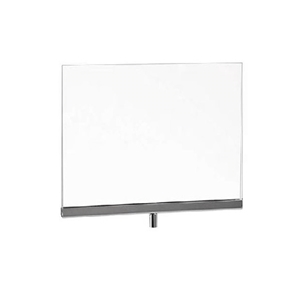 "5-1/2"" x 7"" Acrylic Sign Holder with Chrome Metal Channel"