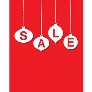 22x28 Holiday Sale Poster