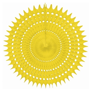 yellow hanging paper starburst fan hanging paper decorations