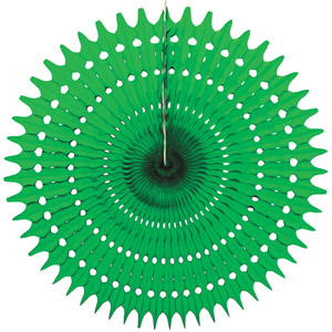 green paper starburst hanging paper decorations