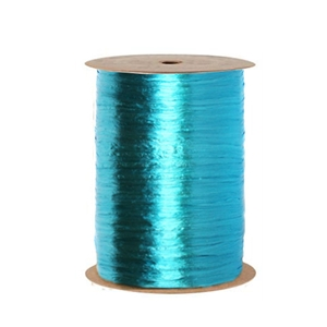 Ribbon pearlized wraphia turquoise