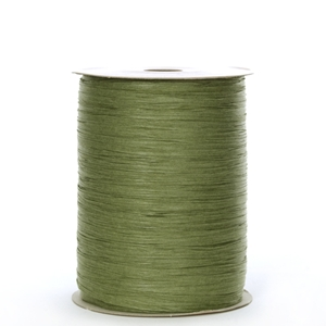 Ribbon paper wraphia olive
