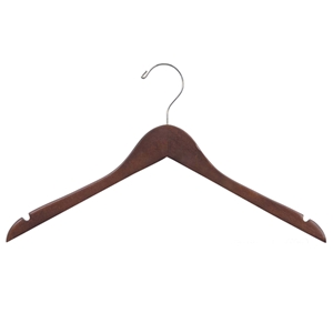 Rubber Coated Walnut Wood Hanger 17""