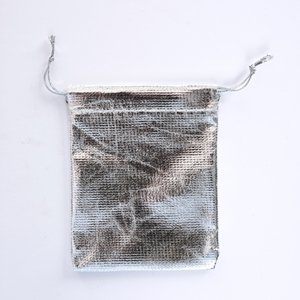 Jewelry pouch metallic silver