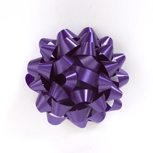 Purple cluster bow