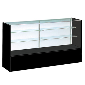 black display case