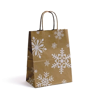 Snowday Paper Shopping Bag 8x4.75x10.5