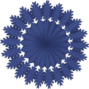 blue paper snowflake hanging paper decorations