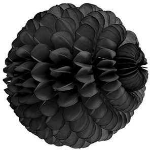 black paper sphere hanging paper decorations