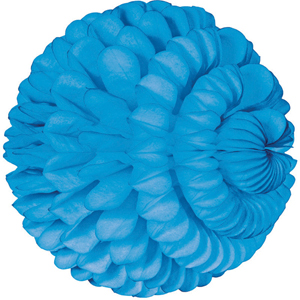 bright blue paper sphere hanging paper decorations