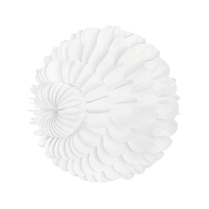 white paper sphere hanging paper decorations