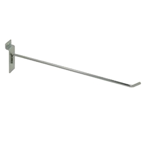 Slatwall hook 12 inch chrome
