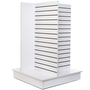 Slatwall unit 4-Way white