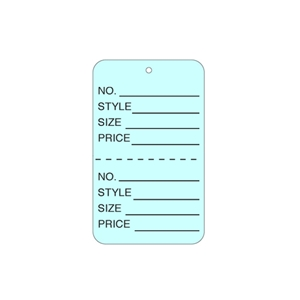 light blue tag unstrung price tags