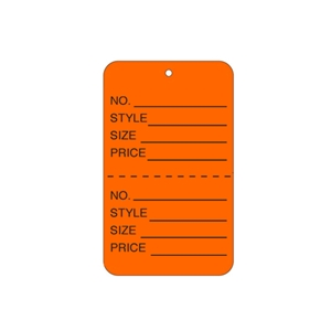 orange tag unstrung price tags