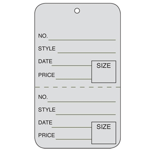 gray tag unstrung price tags