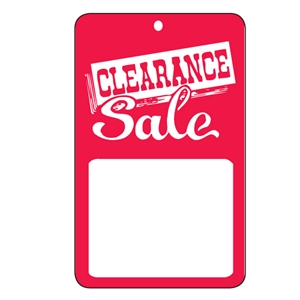 1-3/4x2-7/8 Clearance tag unstrung