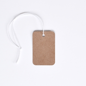 kraft tag with string price tags