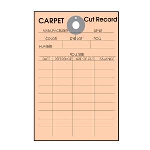 Carpet Cut Record Tag Bulk Pack