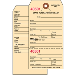3 X 6 25 Inch Alteration Tag Bulk Pack