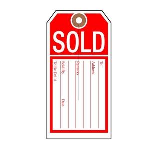 sold tag unstrung bulk pack
