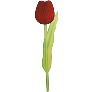Red Tulip Paper Decoration