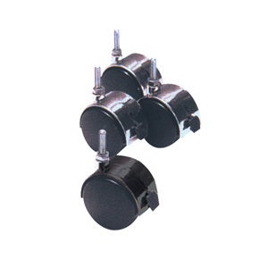 Plastic Hooded casters 3/8 thread