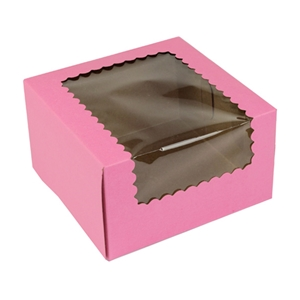 Strawberry 4 Cup Cupcake Box 7x7x4