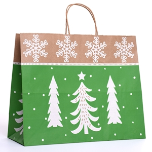 16x6x13 Woodland Trees Paper Shopping Bag