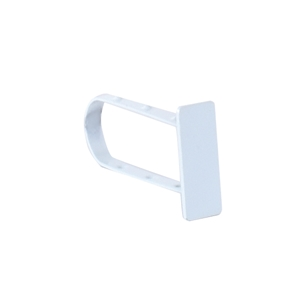 White end cap for rectanuglar tubing
