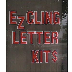 Static cling sign kit