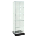 glass display case tower