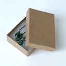 Jewelry box pin earring Kraft