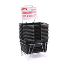 Black Shopping Basket Set of 12