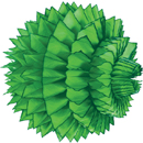 light green paper aztec ball hanging paper decorations