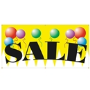 6' x 3' Sale Banner hemmed with grommets and rope