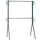 Double bar clothing rack
