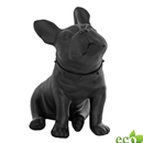 Sitting Bulldog Mannequin - Black Finish