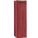 Jute wine bag burgundy