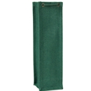 Jute wine bag hunter green