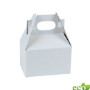 "White kraft gable box 4"" x 2-1/2"" x 2-1/2"""