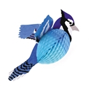 Paper honeycomb and cardboard Blue Jay Paper Decoration
